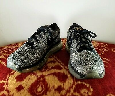 529fc13f5633 new nike flyknit air max 2015 oreo black white racer 620469 size 10