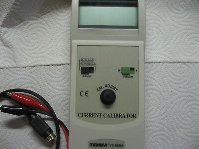 TENMA Adjustable Current Calibrator with LCD Display -  72-6694 , 0-24mA, 5 VDC