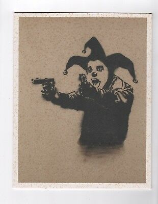 "Rare Phillips de Pury Gallery Invitation BANKSY ""Insane Clown"" 7.5x9.25inch"