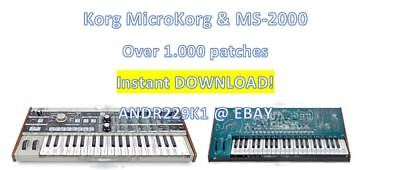 KORG MICROKORG & MS-2000 - Patchbanks / Sounds – 1000+ patches