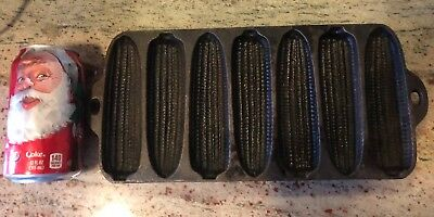 Vintage CAST IRON 7 Ear CORN STICK PAN Cornbread Muffin Mold marked Made in USA