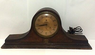 Vintage 1930s Telechron Electric Mantle Clock Model AF01