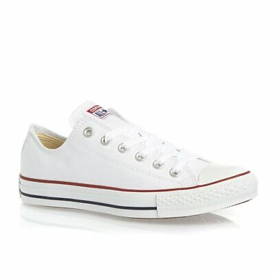 CONVERSE ALL STAR ox Canvas Mens Trainers Shoes White Size