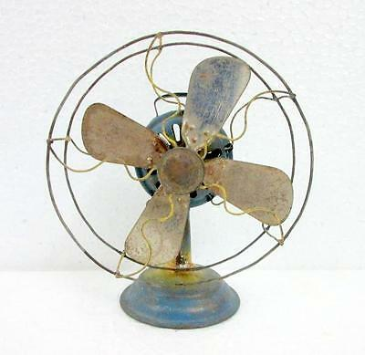 Vintage Old Rare Collectible  Penny / Small Anchor Mark Iron Wind Up Fan Japan