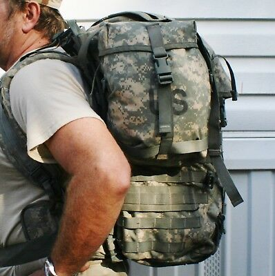 6 Pc Molle Ii Acu Digital Backpack Ruck Set Used But In Vgc Price = $39 See Pics