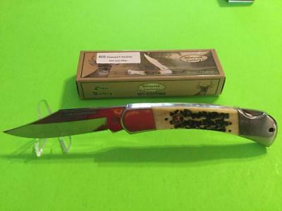 Whitetail 5 Inch Closed Pocket Knife Stag Handle