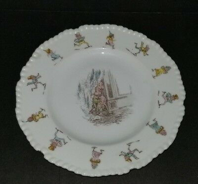 RARE Palmer Cox Brownies Plate Gold Trim Detailed Edging