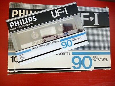 CASSETTE TAPE BLANK SEALED - 1x (one) PHILIPS UF* I [1984-1985]  made in Belgium