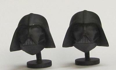 2013 Star Wars 3D Darth Vader Matte Black Cufflinks Original Box Lucasfilm