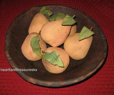 Primitive Pear Bowl Filler ~ Ornies Lightly Cinnamon / Coffee Scented Set of 6