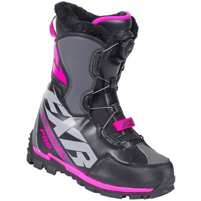"Fxr ""x-Cross Boa"" Boots Snowmobile -40C Fixed Liner - Black Ops - Universal Size"