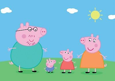Peppa Pig Kids Bedroom Wall Art Large Poster Print A0 A1 A2 A3
