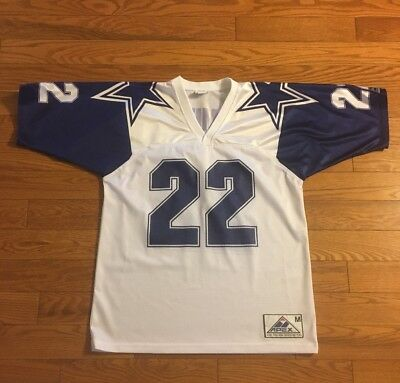 Vintage Emmitt Smith Dallas Cowboys Apex One Double Star Replica Jersey SZ M 6a653fa65