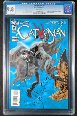 Catwoman #2 CGC 9.8! White Pages! (DC Comics 2011)