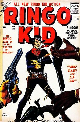 Ringo Kid Western Comics 01 to 21 (1954-1957) on CD In CBR Format!