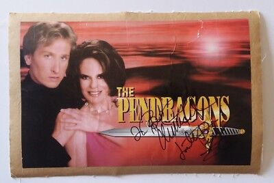The Pendragons autographed poster by Jonathan and Charlotte, mounted to linen