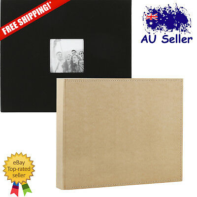 12 x 12in. D-Ring Scrapbook Album Brown Black Classic Photo Artwork Holder Craft