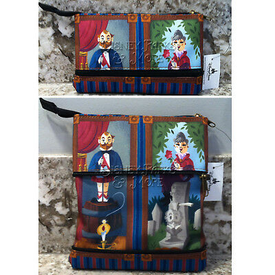Disney Parks Haunted Mansion Stretching Portrait Zipper Pouch Clutch Purse