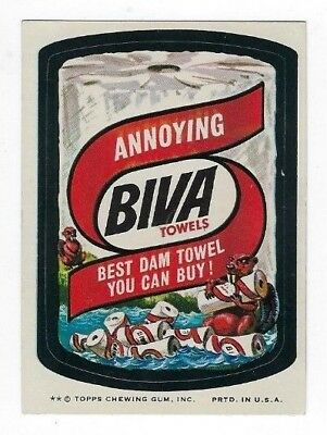 1974 Topps Wacky Packages 8th Series 8 BIVA TOWELS nm-