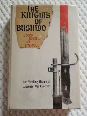 The Knights of Bushido by Lord Russell of Liverpool HC/DJ 1958 First Edition