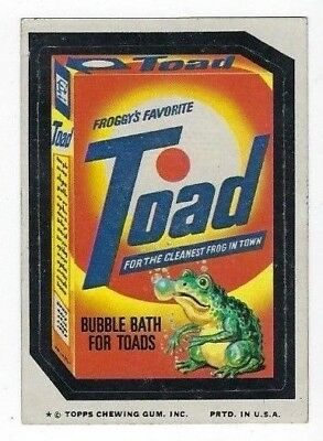 1975 Topps Wacky Packages 12th Series 12 TOAD BUBBLE BATH ex+