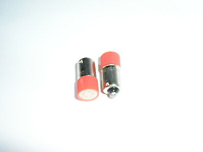 2x BA9s Red LED Bulb 6.3V AC/DC Filament Replacement for Dial Light, Indicator.