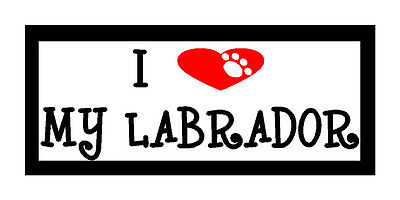I Heart My Labrador Fun Unique Dog Lover Gift Magnet for Fridge or Car New!