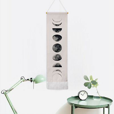 Wall Art Tapestry Art Moon Phase Lunar Display Wall Hanging Art Home Decor Beige
