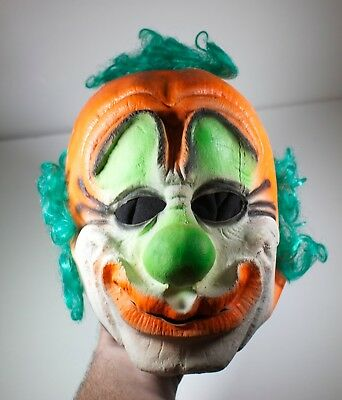 Very RARE Vtg. Creepy Halloween Festa Clown Mask 1973 Joker Slipknot Evil Scary