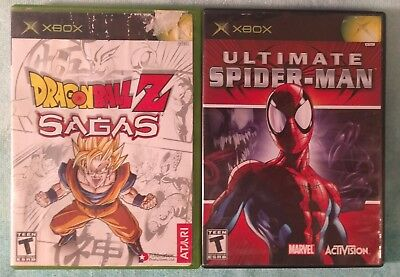 Ultimate Spider-Man & Dragon Ball Z Sagas for Original Xbox- Tested and Working!