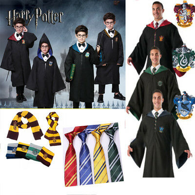 Harry Potter Outfits Cape Hogwarts Uniform Cloak Gryffindor Ravenclaw Magic Robe