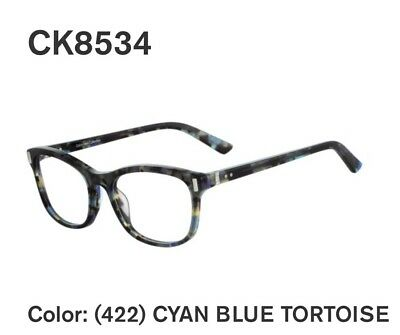 8065fdebcb NEW Calvin Klein Collection CK8534 Eyeglasses 422 Cyan Blue Tortoise  AUTHENTIC