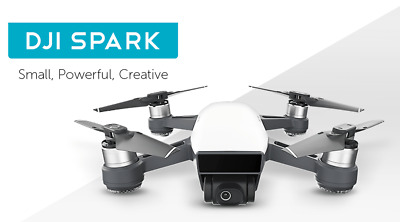 Dji Spark Mini Quadcopter Drohne - Alpine Weiß - 1080P Video 12MP Fotos