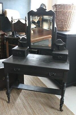 Dressing Table Grey Painted Drawers Mirror Annie Sloan DELIVERY AVAILABLE