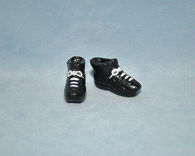 SPORTY! Black Tennis Athletic Shoes w/ White Faux Lace Up Genuine BARBIE Fashion