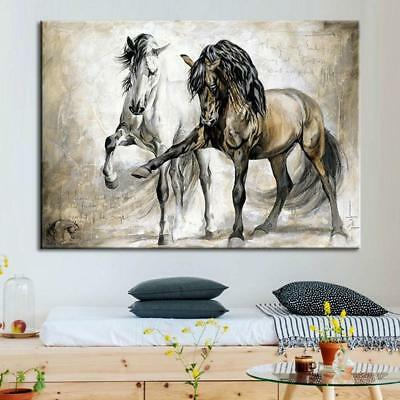 Unframed Home Room Decor Playing Horse Canvas Wall Picture Art Painting Poster