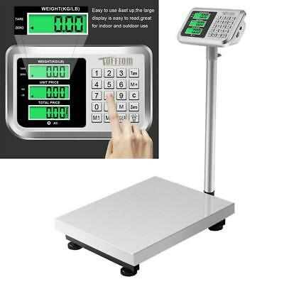 Heavy Duty Postal Parcel Platform Scales - 660LB 300kg/50g Weight Computing