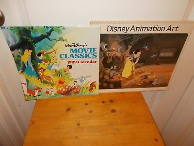 Pair of Vintage DISNEY Calendars from 1986 and 1989 Great Graphics!