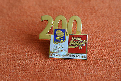 13438 Pin's Pins Jo Olympic Worldgames Lillehammer 1994 Coca Cola 200 Days