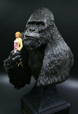 """King Kong and Ann Kingkong Skull Island 12"""" Bust Figure Statue Toy Collectibles"""