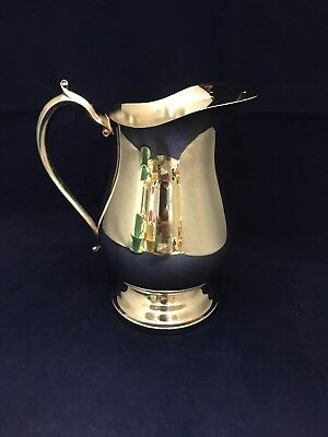 Vintage Kent Silversmith Silver Plate Water Pitcher With Ice Lip Euc