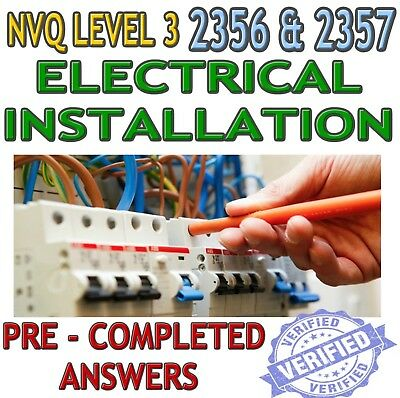 NVQ 3 Electrical Installation Completed Coursework Help & Answers 2356 & 2357