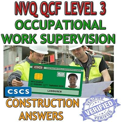 NVQ QCF Level 3 Diploma In Occupational Work Supervision Answers (Construction)
