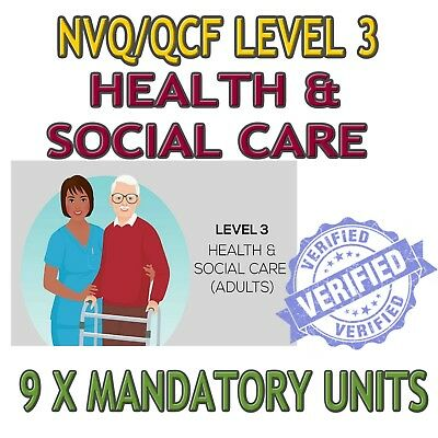 NVQ Level 3 QCF Diploma Health And Social Care ANSWERS HELP 9 x Mandatory Units