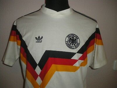c53aa4fe7fa adidas DFB Deutschland WM 1990 Football Shirt Trikot Vintage West Germany  Old L
