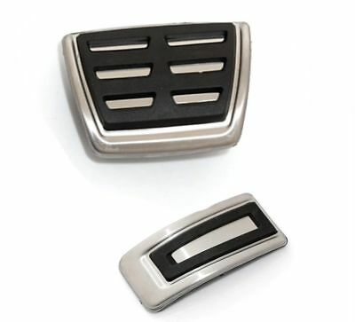 Automatic VW Stainless Steel Pedal Covers - Fits Polo, Golf & Passat - New Style