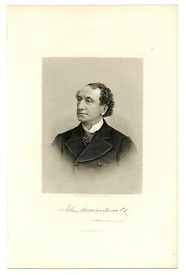 JOHN A MacDONALD, First Prime Minister of Canada, Steel Engraving
