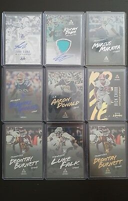 Panini Luminance Football Trading Card Lot (Autographs, Rookies, Base)