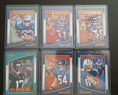 Lot Of 6 Football Insert Trading Cards Donruss 2018