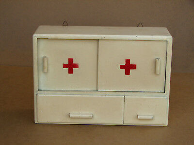 Antique Vintage Wood Medicine Cabinet Apothecary Wall Chest Rustic 60s